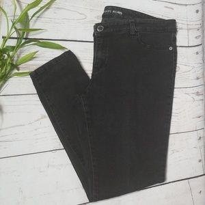 Michael Kors Black Bottom Zip HighRise Skinny Jean